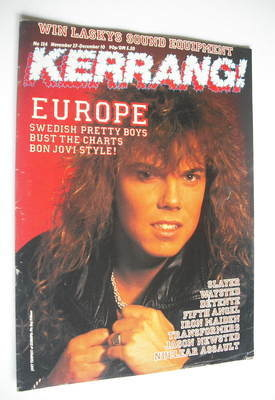 <!--1986-11-27-->Kerrang magazine - Europe cover (27 November - 10 December