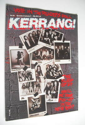 <!--1986-12-25-->Kerrang magazine - The Klass Of 87 cover (25 December 1986