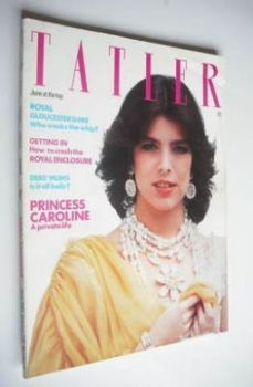Tatler magazine - June 1981 - Princess Caroline cover