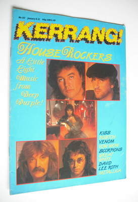 <!--1987-01-08-->Kerrang magazine - Deep Purple cover (8-21 January 1987 -