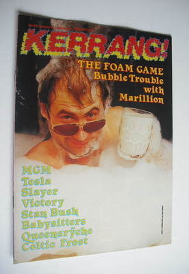 <!--1987-01-22-->Kerrang magazine - Marillion cover (22 January - 4 Februar