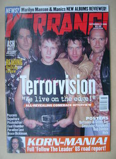 <!--1998-09-12-->Kerrang magazine - Terrorvision cover (12 September 1998 -