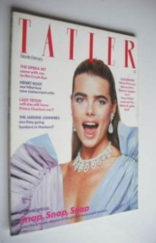 Tatler magazine - February 1981 - Margaux Hemingway cover