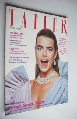 <!--1981-02-->Tatler magazine - February 1981 - Margaux Hemingway cover