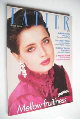 <!--1982-10-->Tatler magazine - October 1982 - Isabella Rossellini cover