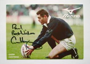 Gavin Hastings autograph