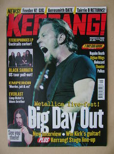 <!--1999-03-06-->Kerrang magazine - James Hetfield cover (6 March 1999 - Is