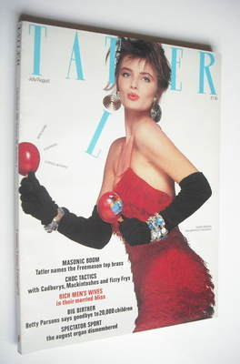 <!--1986-07-->Tatler magazine - July/August 1986 - Paulina Porizkova cover