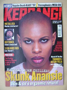 <!--1999-02-27-->Kerrang magazine - Skin (Skunk Anansie) cover (27 February