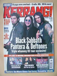 <!--1999-02-20-->Kerrang magazine - Chino Moreno, Ozzy Osbourne, Phil Ansel