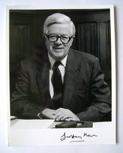Geoffrey Howe autograph