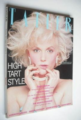 <!--1984-11-->Tatler magazine - November 1984 - Miranda Richardson cover