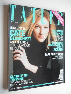 <!--2002-03-->Tatler magazine - March 2002 - Cate Blanchett cover