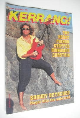 <!--1987-06-25-->Kerrang magazine - Sammy Hagar cover (25 June - 8 July 198