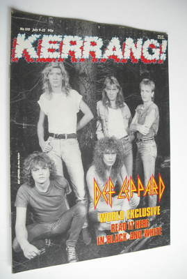 <!--1987-07-09-->Kerrang magazine - Def Leppard cover (9-22 July 1987 - Iss