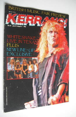 <!--1987-07-23-->Kerrang magazine - Whitesnake cover (23 July - 5 August 19