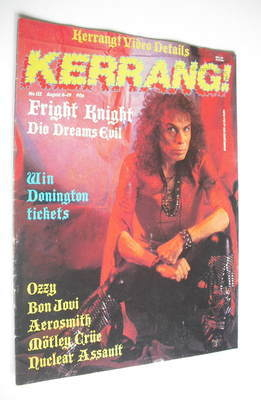 <!--1987-08-06-->Kerrang magazine - Ronnie James Dio cover (6-19 August 198