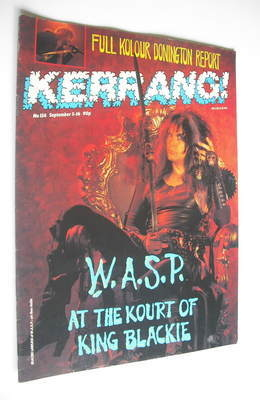 <!--1987-09-03-->Kerrang magazine - Blackie Lawless cover (3-16 September 1