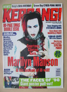 <!--1998-12-19-->Kerrang magazine - Marilyn Manson cover (19 December 1998