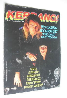 <!--1987-12-05-->Kerrang magazine - The Cult cover (5 December 1987 - Issue