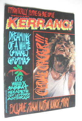 <!--1987-12-26-->Kerrang magazine - Whitesnake cover (26 December 1987 - Is