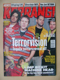 <!--1999-01-23-->Kerrang magazine - Terrorvision cover (23 January 1999 - I