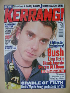 <!--1999-01-09-->Kerrang magazine - Gavin Rossdale cover (9 January 1999 -