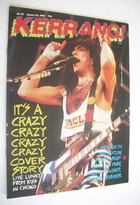 <!--1988-01-30-->Kerrang magazine - Paul Stanley cover (30 January 1988 - I