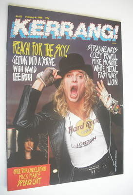 <!--1988-02-06-->Kerrang magazine - David Lee Roth cover (6 February 1988 -