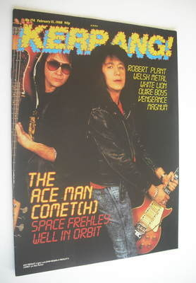 <!--1988-02-13-->Kerrang magazine - Ace Frehley and John Regan cover (13 Fe