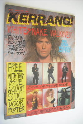 <!--1988-03-05-->Kerrang magazine - Whitesnake cover (5 March 1988 - Issue