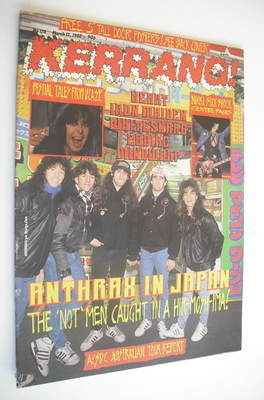 <!--1988-03-12-->Kerrang magazine - Anthrax cover (12 March 1988 - Issue 17