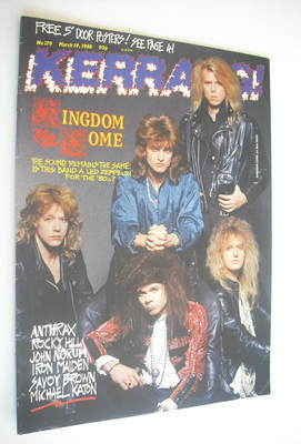 <!--1988-03-19-->Kerrang magazine - Kingdom Come cover (19 March 1988 - Iss