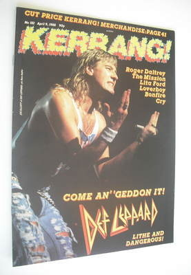 <!--1988-04-09-->Kerrang magazine - Def Leppard cover (9 April 1988 - Issue