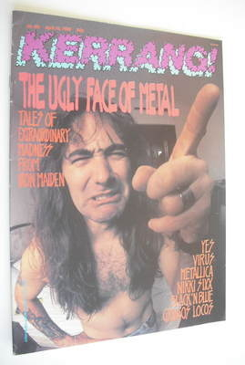 <!--1988-04-16-->Kerrang magazine - Iron Maiden cover (16 April 1988 - Issu