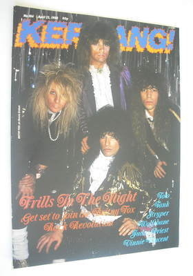 <!--1988-04-23-->Kerrang magazine - Britny Fox cover (23 April 1988 - Issue