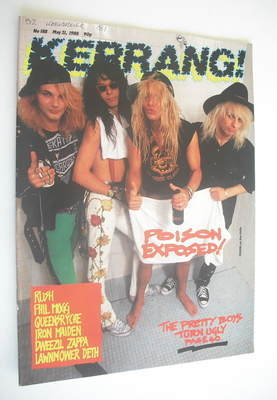 <!--1988-05-21-->Kerrang magazine - Poison cover (21 May 1988 - Issue 188)