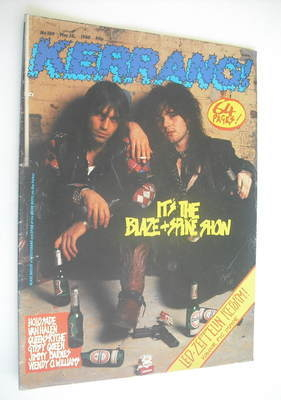 <!--1988-05-28-->Kerrang magazine - Wolfsbane & Quireboys cover (28 May 198