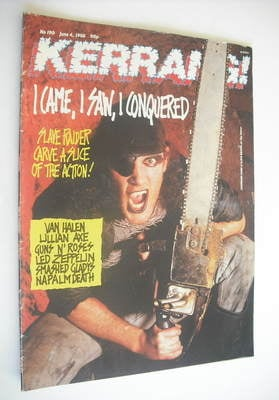 <!--1988-06-04-->Kerrang magazine - Slave Raider cover (4 June 1988 - Issue
