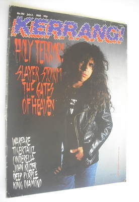<!--1988-07-02-->Kerrang magazine - Slayer cover (2 July 1988 - Issue 194)