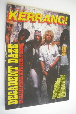 <!--1988-07-30-->Kerrang magazine - Guns N' Roses cover (30 July 1988 - Iss