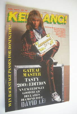<!--1988-08-13-->Kerrang magazine - David Lee Roth cover (13 August 1988 -