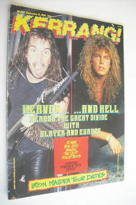 <!--1988-09-17-->Kerrang magazine - Slayer & Europe cover (17 September 198