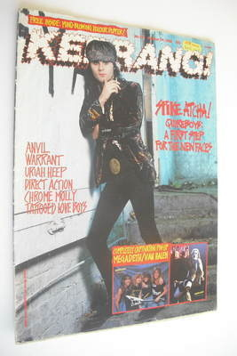 <!--1988-10-29-->Kerrang magazine - Quireboys cover (29 October 1988 - Issu