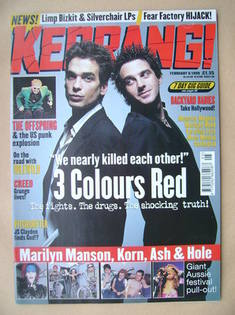 <!--1999-02-06-->Kerrang magazine - 3 Colours Red cover (6 February 1999 -