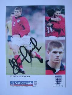 Steven Gerrard autograph