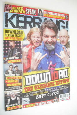 <!--2012-06-16-->Kerrang magazine - Biffy Clyro cover (16 June 2012 - Issue