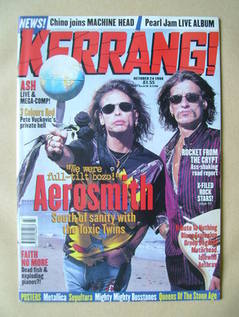 <!--1998-10-24-->Kerrang magazine - Aerosmith cover (24 October 1998 - Issu