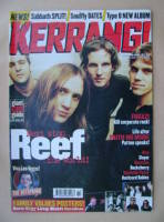 <!--1999-04-10-->Kerrang magazine - Reef cover (10 April 1999 - Issue 745)