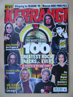 <!--1999-04-17-->Kerrang magazine - The 100 Greatest Rock Tracks Ever! cove